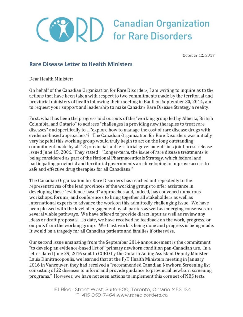 Rare Disease Letter to Health Ministers Oct 2017_Page_1